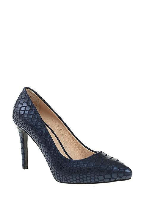 D by Divarese %100 Deri Topuklu Ayakkabı Mavi